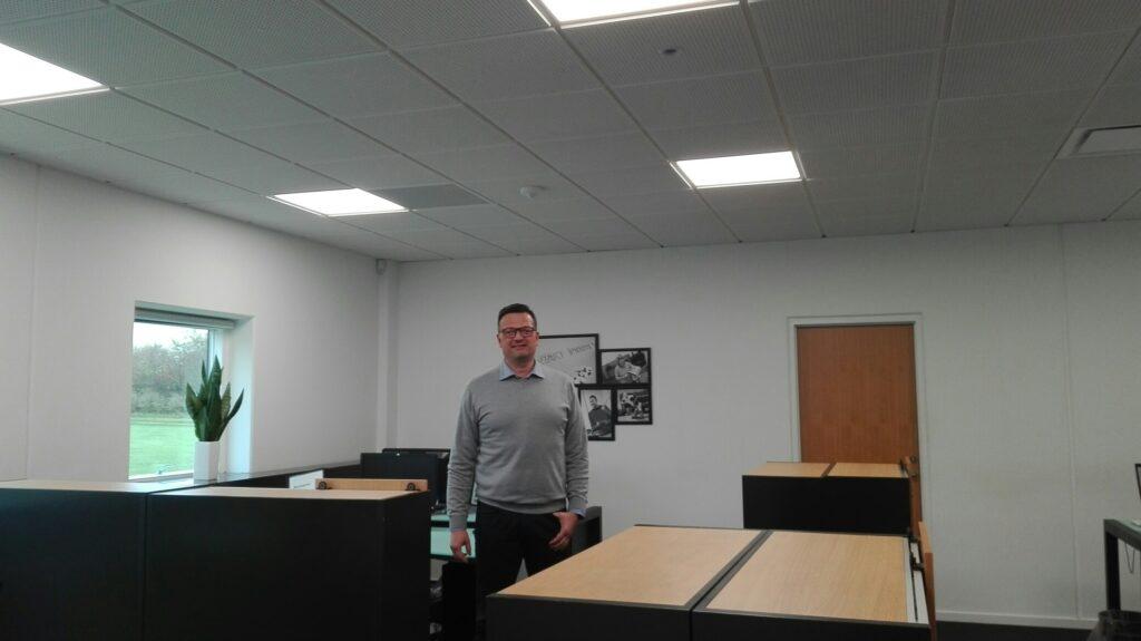 Ny kontorbelysning ved FBG