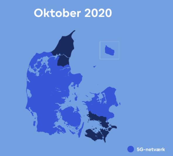 Sådan dækker Uni-tel med 5G oktober 2020