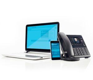 Erhvervstelefoni uden binding.