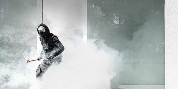 Tågesikring med røgkanon